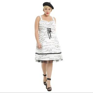HOT TOPIC Music Note Fit and Flare Spring Dress